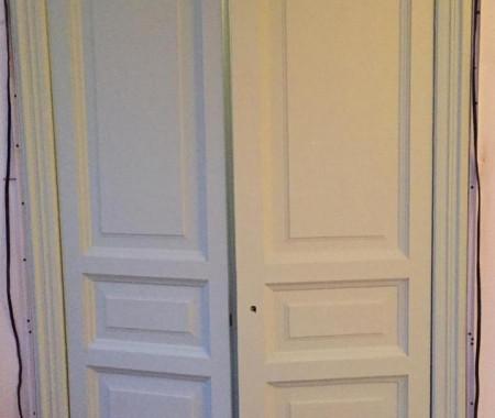 Реставрация деревянных дверей сталинской эпохи в Санкт-Петербурге